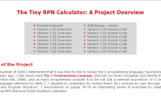 Click here to access the Tiny RPN Calculator Project